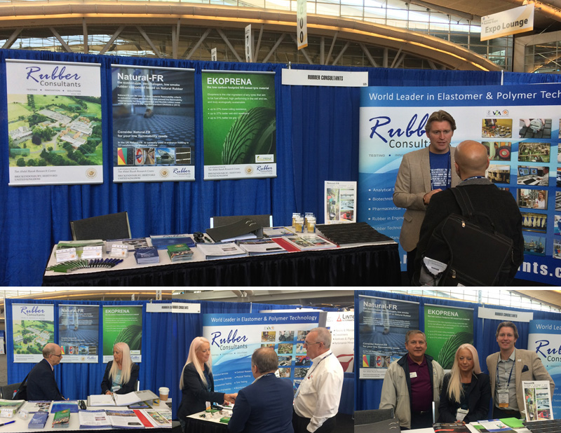 Rubber Consultants Booth 535 at the Rubber Division ACS International Elastomer Conference and Rubber Expo 2016, Pittsburgh
