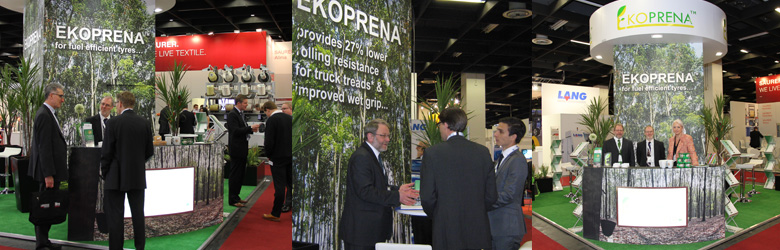 Ekoprena stand at Tire Technology Expo 2014