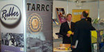 TARRC'S David Cawthra speaks to visitors to the exhibition stand at Interplas 2005